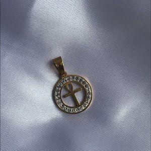 Gold Ankh Charm Pendant!